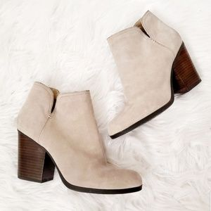 Kenneth Cole Reaction Taupe Suede Leather Booties